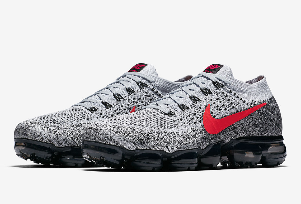 d7a8b27a01d The Nike Air VaporMax Is Stepping Out in Grey and Red - Freshness ...