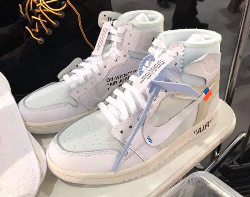 8dcbe91bed1 An All-White Edition of the Virgil Abloh x Air Jordan 1 Surfaces in Paris  ...