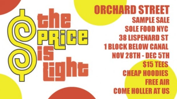 Orchard Street - Sample Sale @ Sole Food NYC