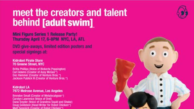 Kidrobot x Cartoon Network - Adult Swim Signing