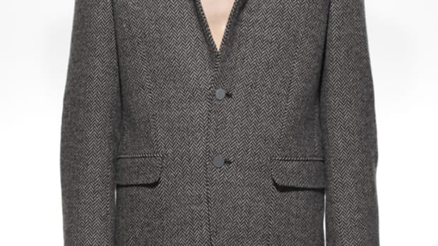 Tweed Shell Jacket Gray
