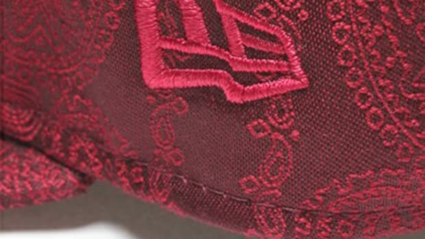Paisley Snap Back Cap Wine 6