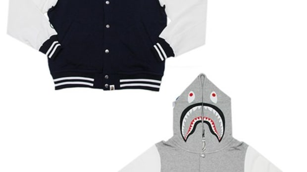 A Bathing Ape (BAPE)  (BAPE) - Shark Sweat Cotton Jersey Stadium Jacket | 1610-MJK-03209