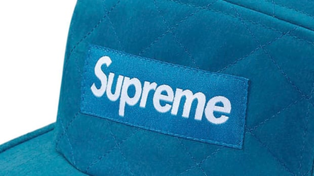 Supreme - Quilted Suede Camp Cap | Available Now - 0