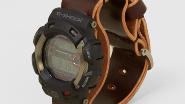 Men's File x Casio G Shock GW 9110 1ER GULFMAN Cordovan Leather Watch