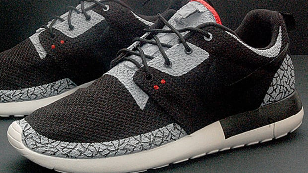 Nike Roshe Run - Air Jordan III Black/Cement Inspired Customs - 1