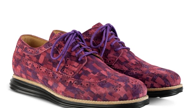 7615a629a41 Cole Haan LunarGrand Long Wingtip - Red Multi Mosaic Camo