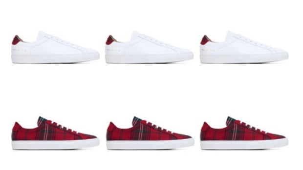 hot sale online 9db89 b7c95 Common Projects x DSM - Tartan Special Collection