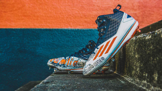 5d05984b895f0 AL Rookie of the Year Carlos Correa Unveils Custom adidas Cleats for  Opening Day