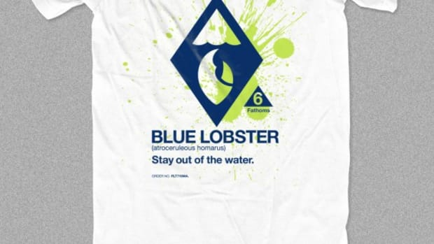 CONCEPTS Boston - Danger Blue Lobster Limited T-Shirt - Front 02