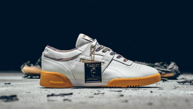 823ecec58adba Sneaker Politics   Humidity Team Up on a Cracked-Leather Reebok Workout Low