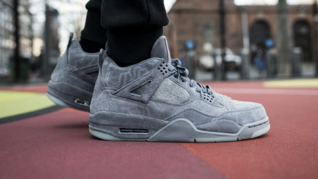 dc22df94d06 An On-Foot Look at the KAWS x Air Jordan 4 Retro