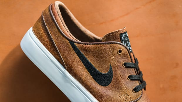ad9ed5707df The Nike SB Zoom Stefan Janoski Is Embellished With Aged Leather