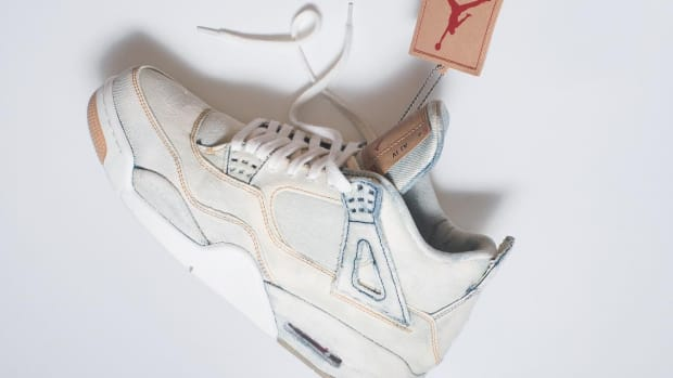 4ad035583e6 The Levi's x Air Jordan 4 Gets a Bleached Out Custom Makeover
