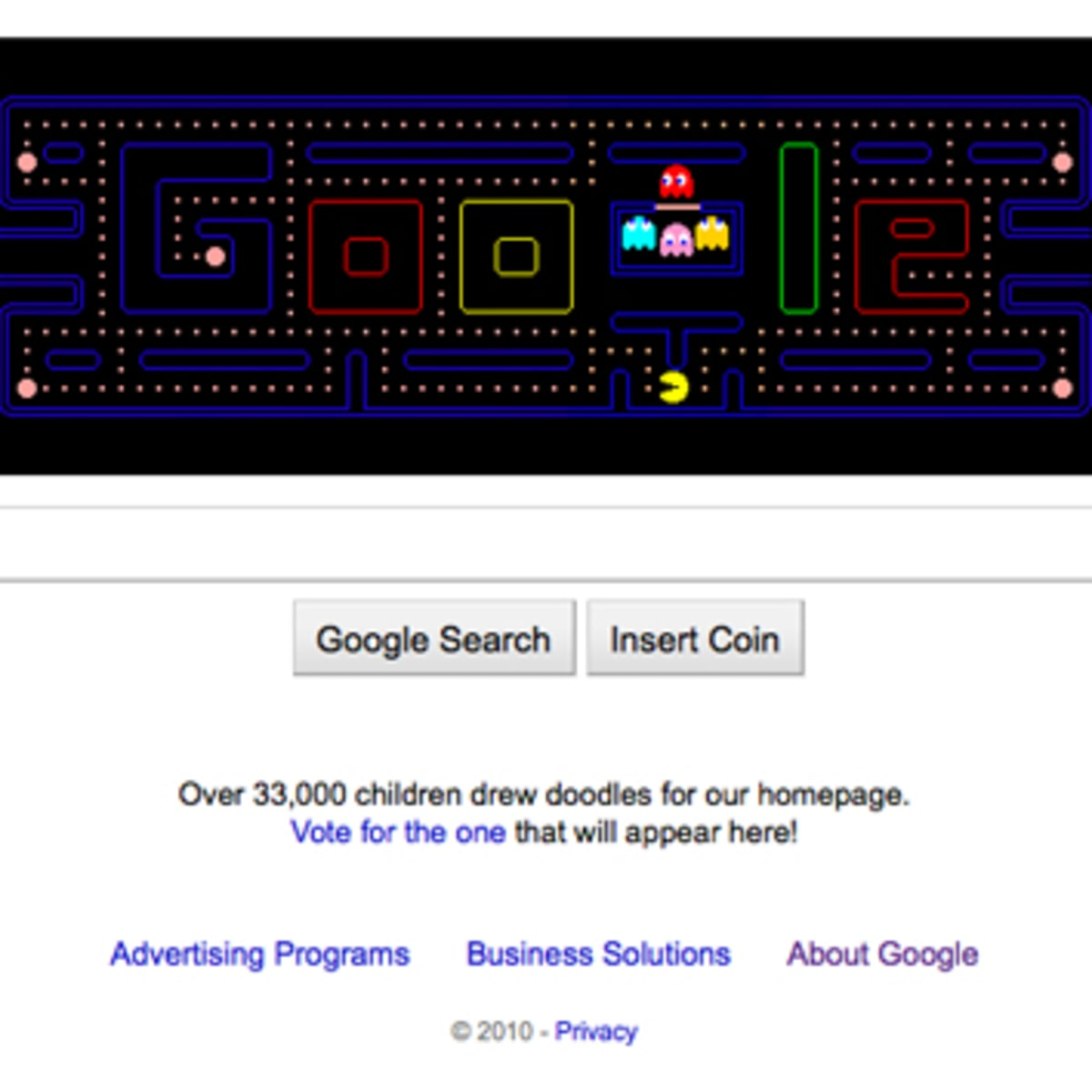 google pac man 30th anniversary search page doodle freshness mag google pac man 30th anniversary