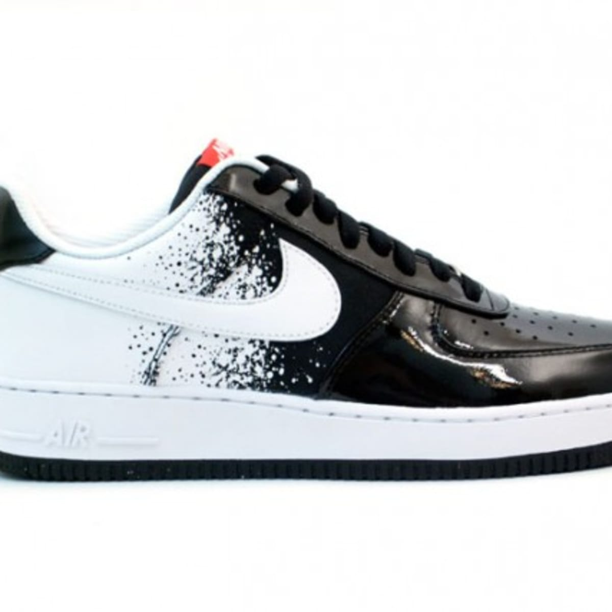 Nike Air Force 1 Low Premium Black White Hot Red Freshness Mag