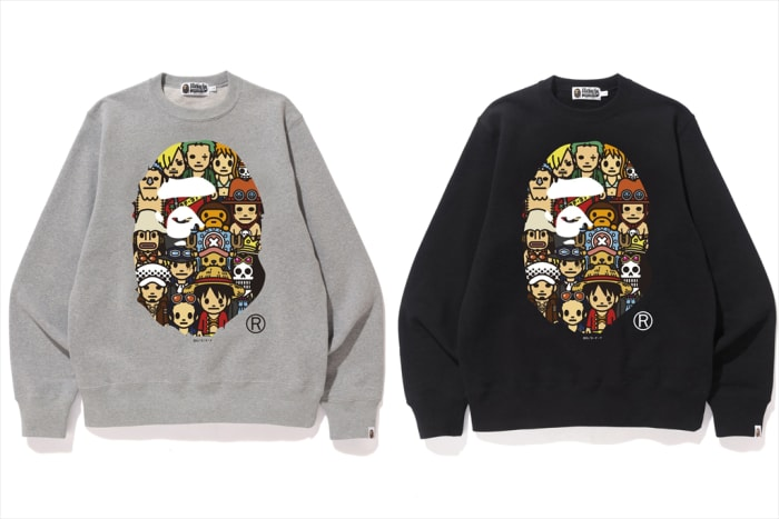 BAPE x One Piece Ape Head Crewneck