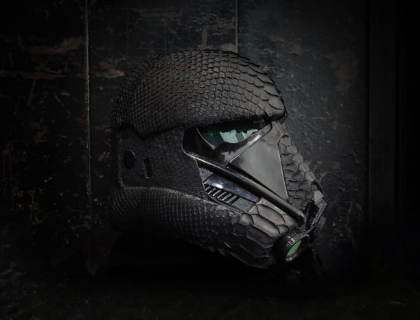 The Star Wars Death Trooper Helmet Gets Wrapped In Real