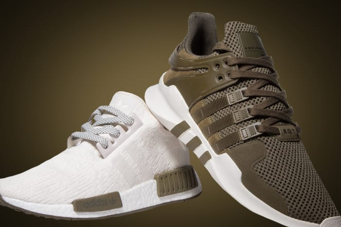 "adidas NMD R1 and EQT ADV ""Chalk and Olive"""