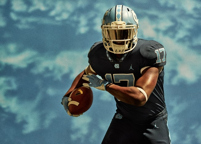 Jordan UNC Football Uniform