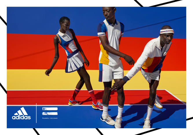 b17c78d3bce9d Pharrell Teams Up With adidas on a Retro-Inspired Tennis Collection ...