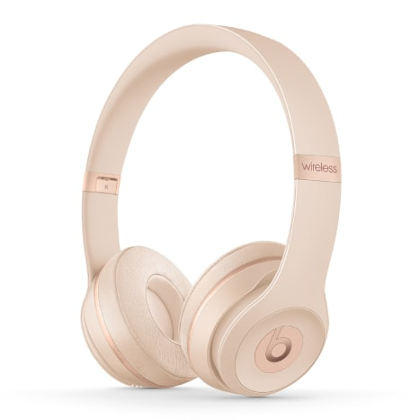 Beats Solo3 Wireless headphones in matte gold