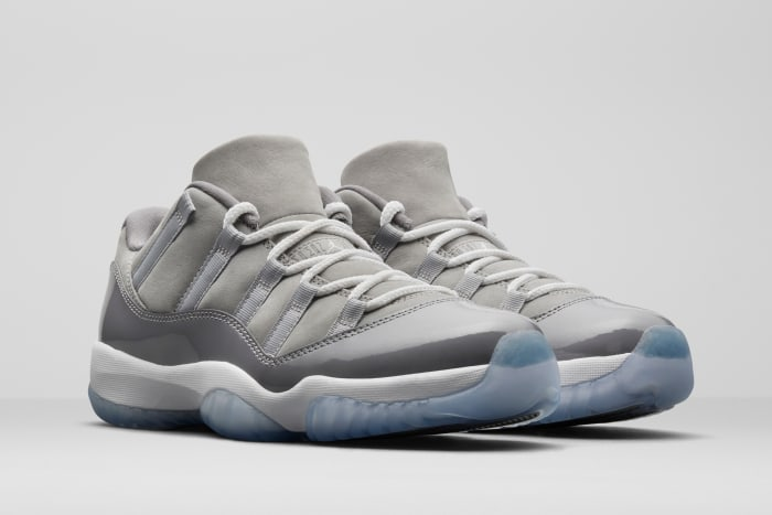 """The Air Jordan 11 Low """"Cool Grey"""" releases on April 24th"""