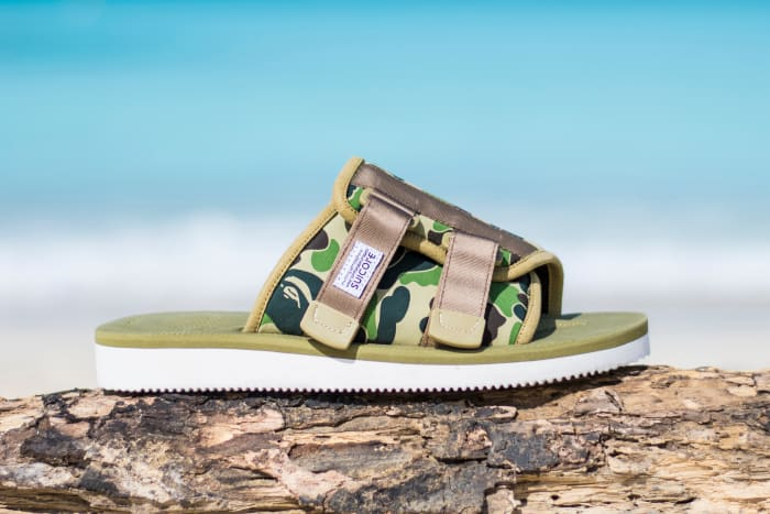 7a35450d BAPE and SUICOKE Team Up on Sandals for the Whole Family - Freshness Mag