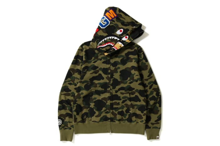 1St Choice Auto >> BAPE Applies Its Signature 1st Camo to the Shark Full-Zip Double Hoodie - Freshness Mag