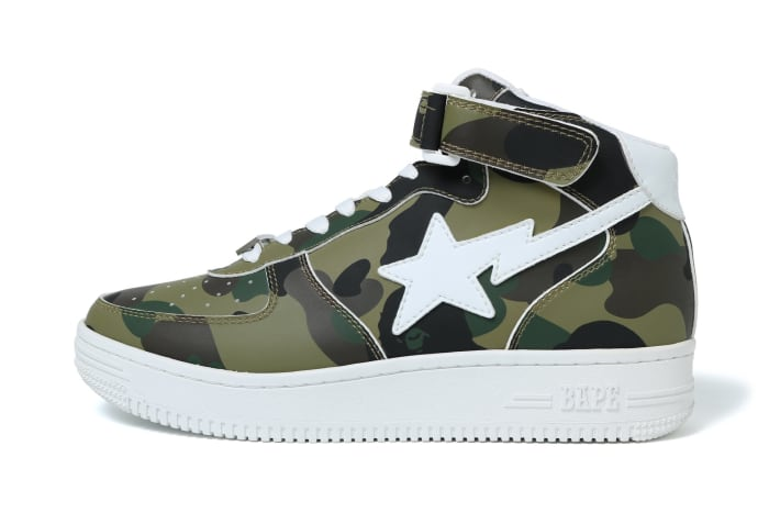1fa86c266d449 A BATHING APE's 1st Camo BAPE STA Mid Drops Tomorrow in Two ...