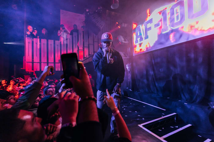 Travis Scott for 35th anniversary Air Force 1 celebration in Chicago.