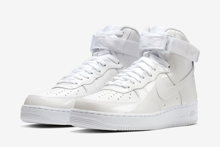 "Nike Air Force 1 High ""Sheed"" White Patent Leather"