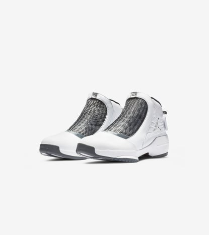 Air Jordan 19 White/Chrome - Flint Grey - Black