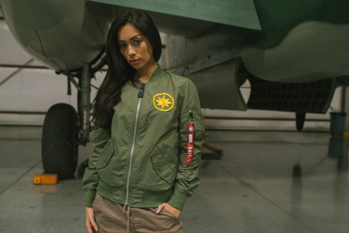 BAIT x Alpha Industries x Marvel Captain Marvel L2B Scout Jacket