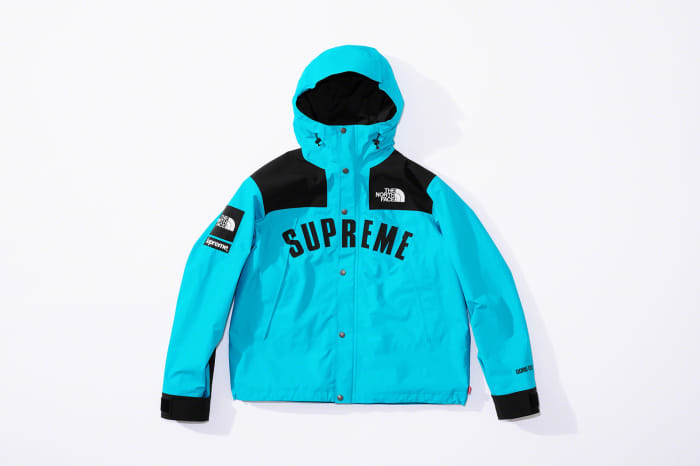 Supreme x The North Face SS19 Mountain Parka Jacket Aqua Blue