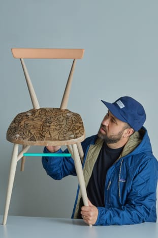 Steve Harrington x L.Ercolani Stacking Chair