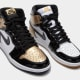 "Air Jordan 1 Black and Gold ""Top Three"""