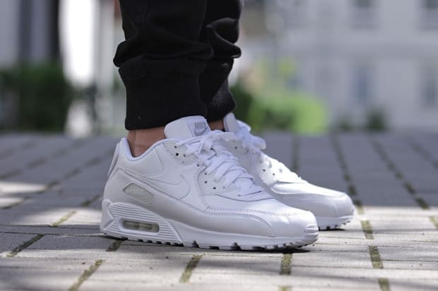 """Nike Air Max 90 Leather – """"All White"""