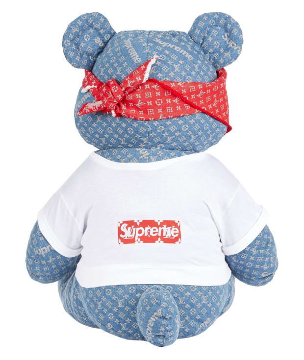 301a2436fb2a This Supreme x Louis Vuitton Teddy Bear is Up for Auction - Freshness Mag