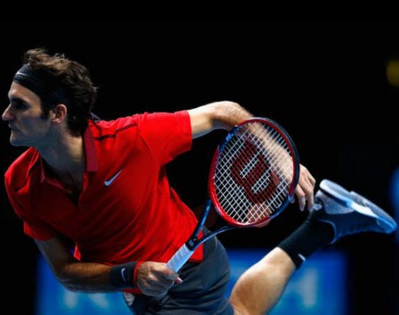 "Roger Federer wears Nike Zoom Vapor Tour AJ3 ""Black/Cement"" for ATP World Tour Finals"