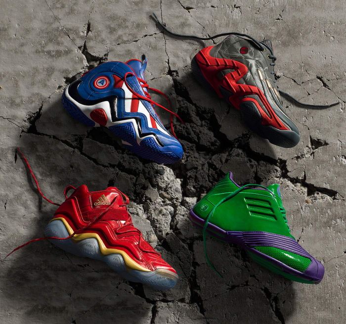 Adidas X Marvel S Avengers Basketball Shoe Collection