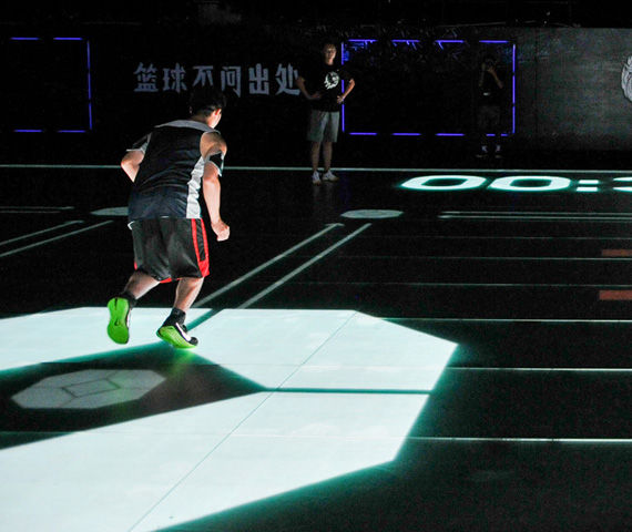 Nike Unveils TRON-like LED Digital Basketball Court for Kobe Bryant China Tour 2014 - Freshness Mag