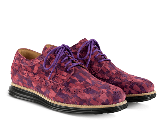 Cole Haan LunarGrand Long Wingtip - Red Multi Mosaic Camo