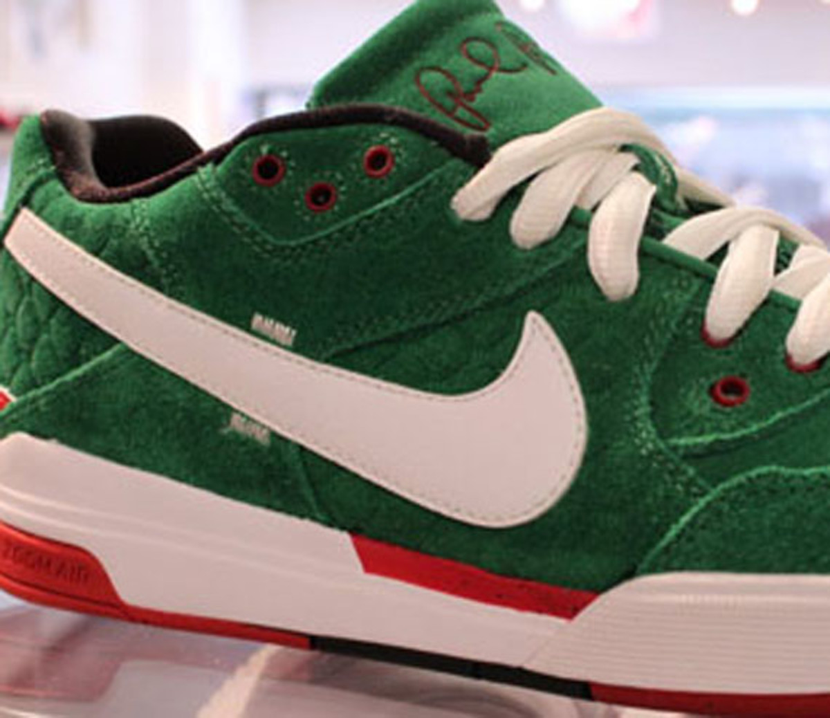 e0429442710 Nike SB Zoom Air Paul Rodriguez (P-Rod) III - Green White-Red ...