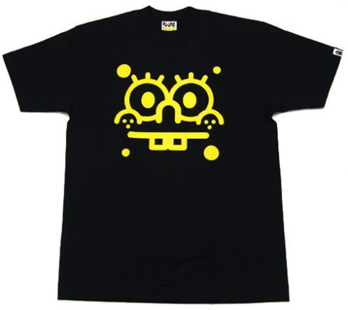 A Bathing Ape (BAPE)  x SpongeBob - SpongeBob Face T-Shirt
