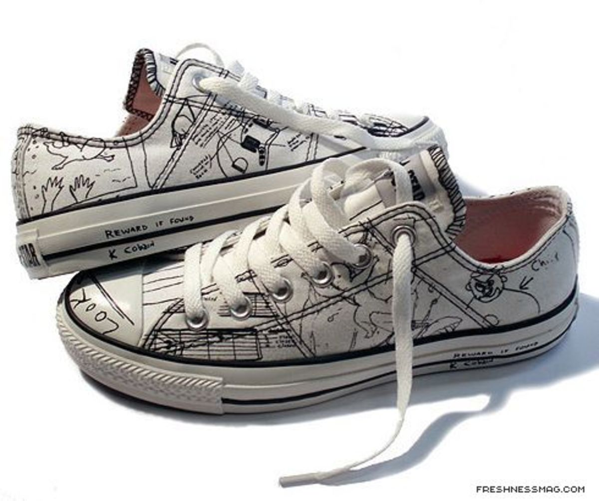 Converse - Kurt Cobain Collection - Jack Purcell Notebook Scribbles Edition