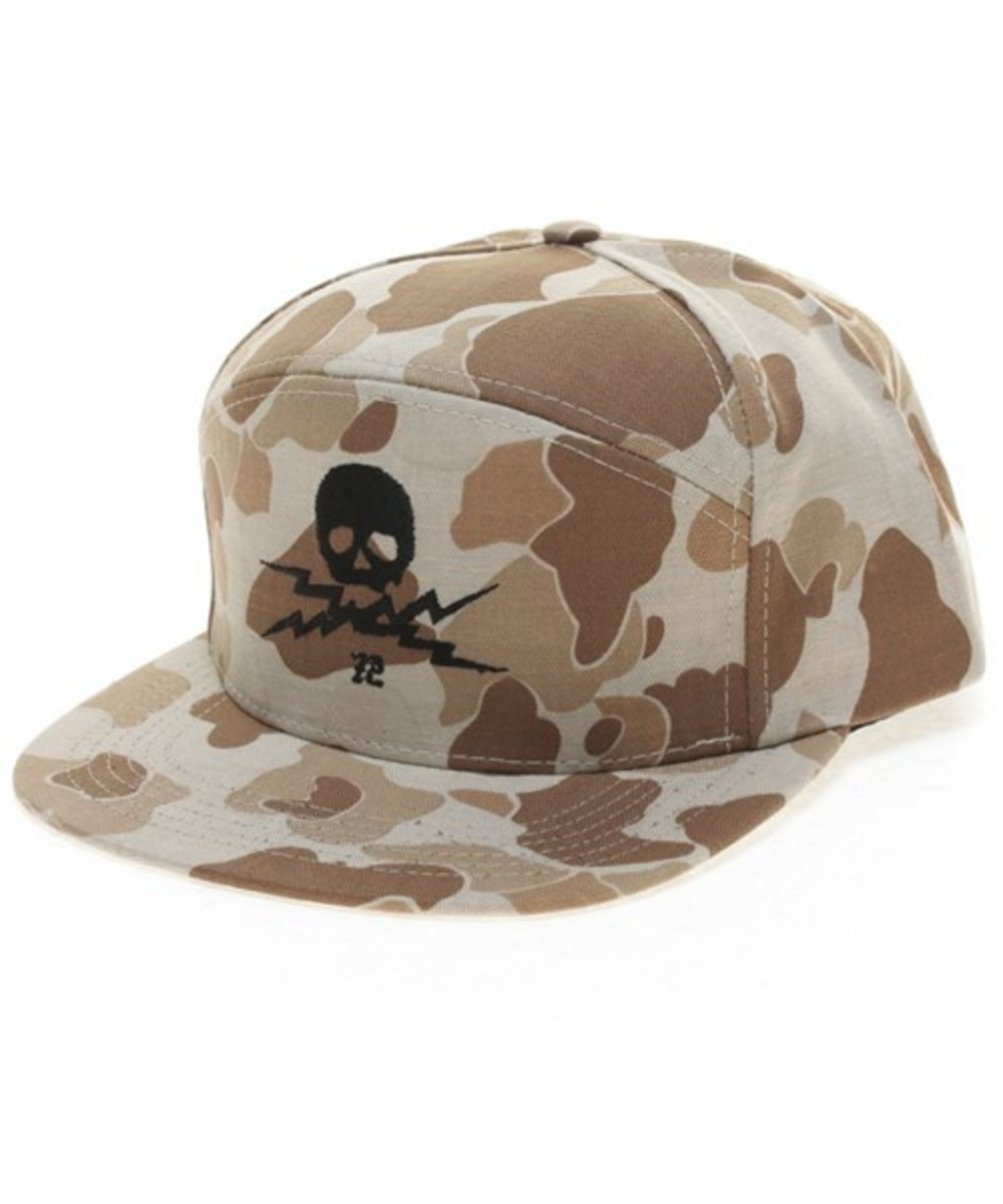Wasted Military Cap Brown
