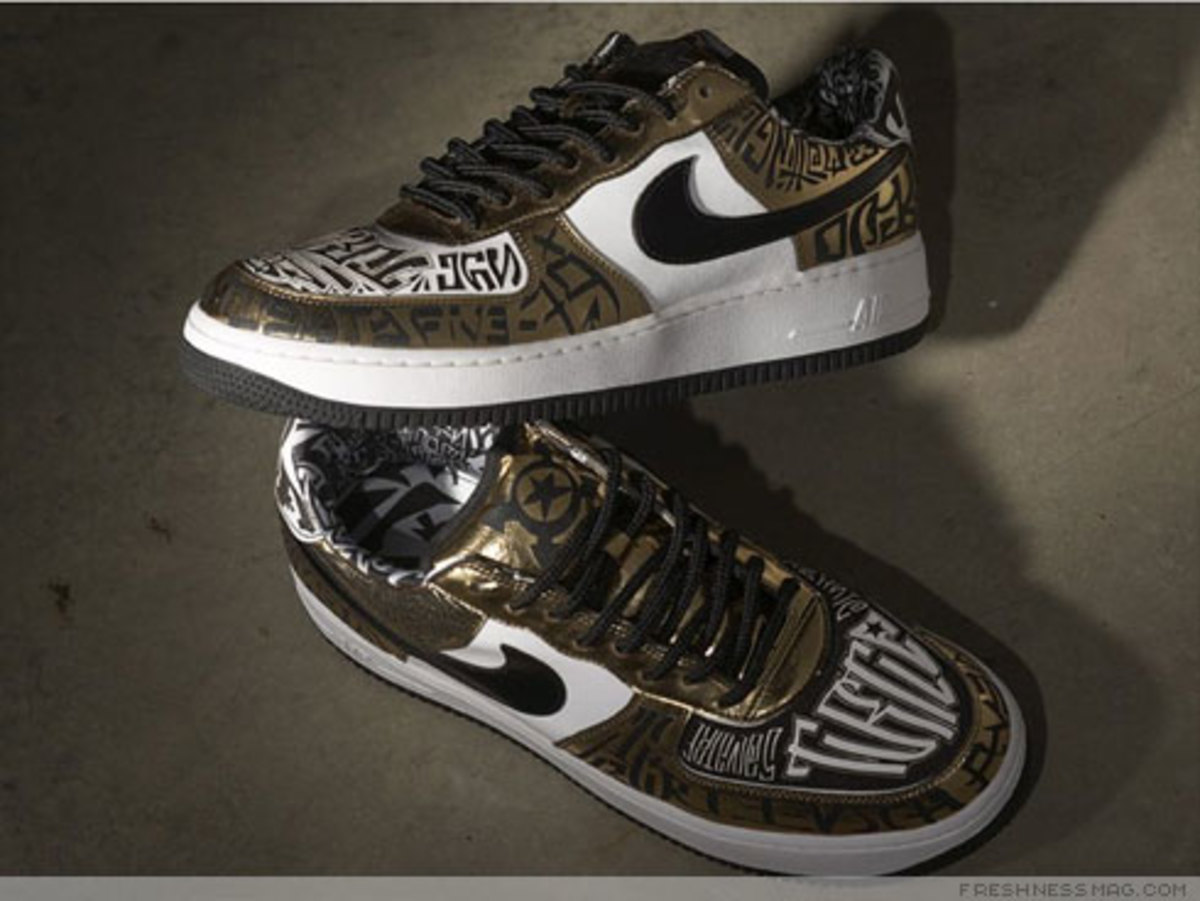 Nike x UNDFTD x Entourage - Turtle Air Force 1 - 6