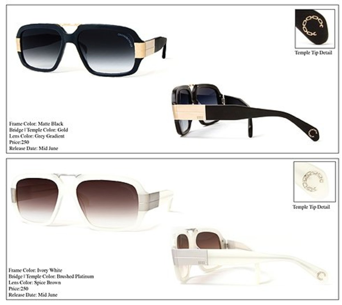 Crooks & Castles x Mosley Tribes - Castellano Sunglasses Pre-Order
