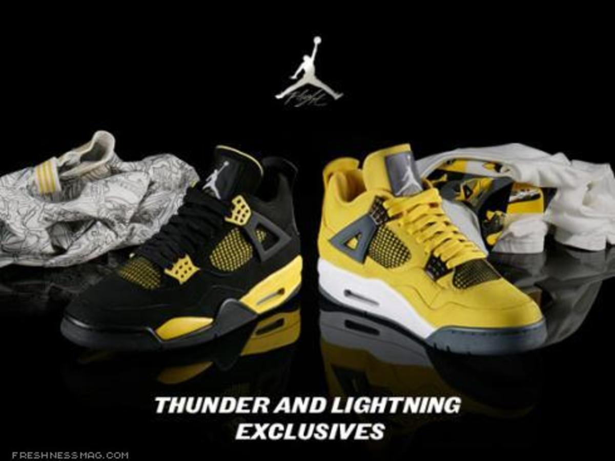 Air Jordan 1V (4) - Thunder + Lightning Pack - 0